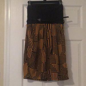 Geometric Printed Mini Dress W/Pockets